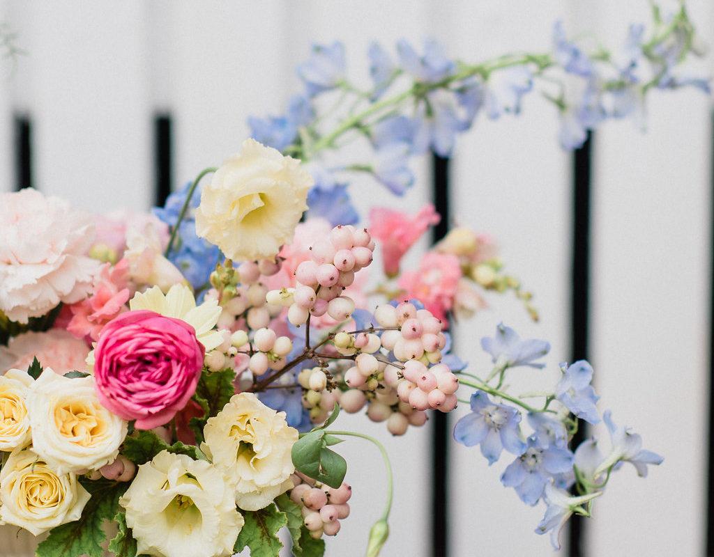 Soft flowers roses wedding centerpiece Hamilton Niagara Toronto Wedding Florist