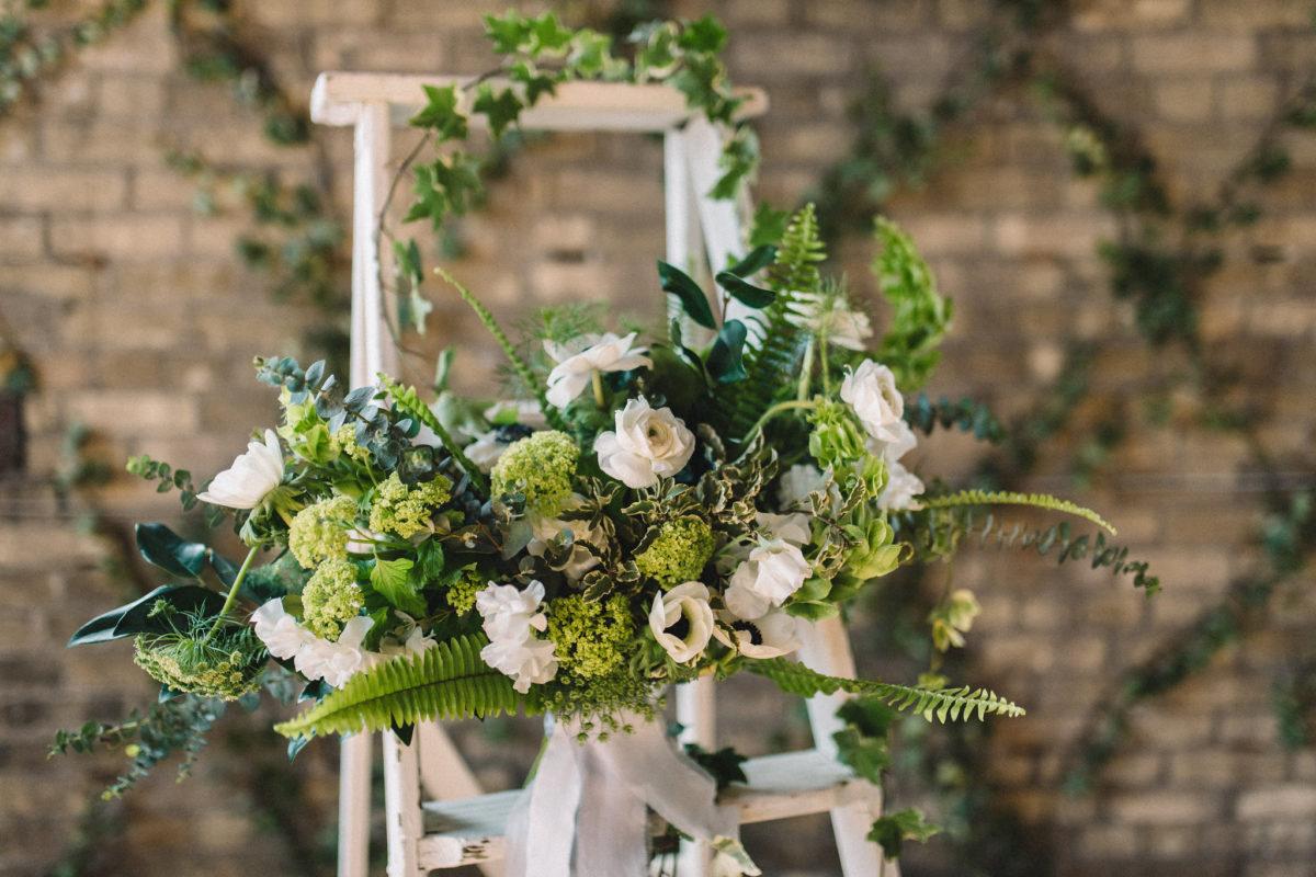 White Roses rustic Toronto Niagara Hamilton Wedding florist
